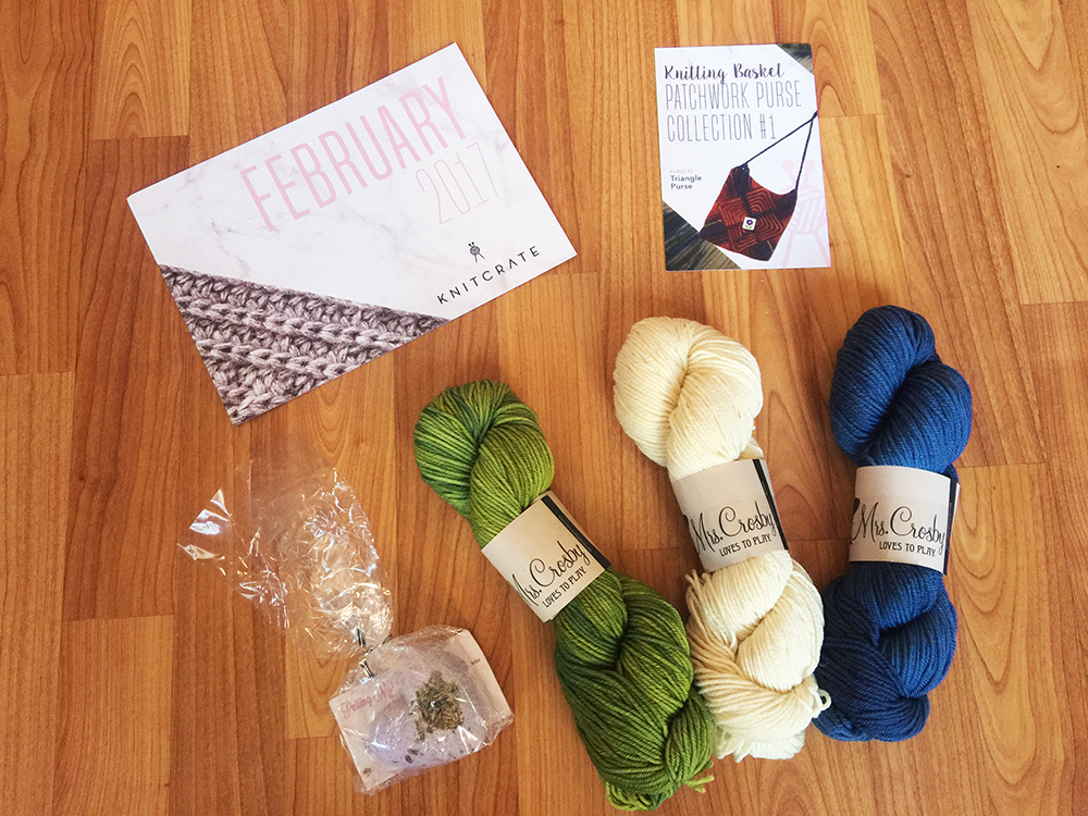 knitcrate box contents february 2017