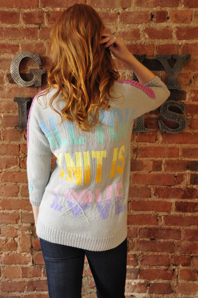 all you knit is love sweater