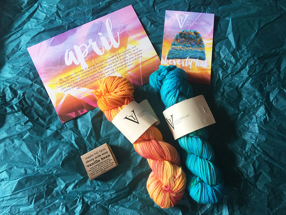knitcrate box contents april 2017