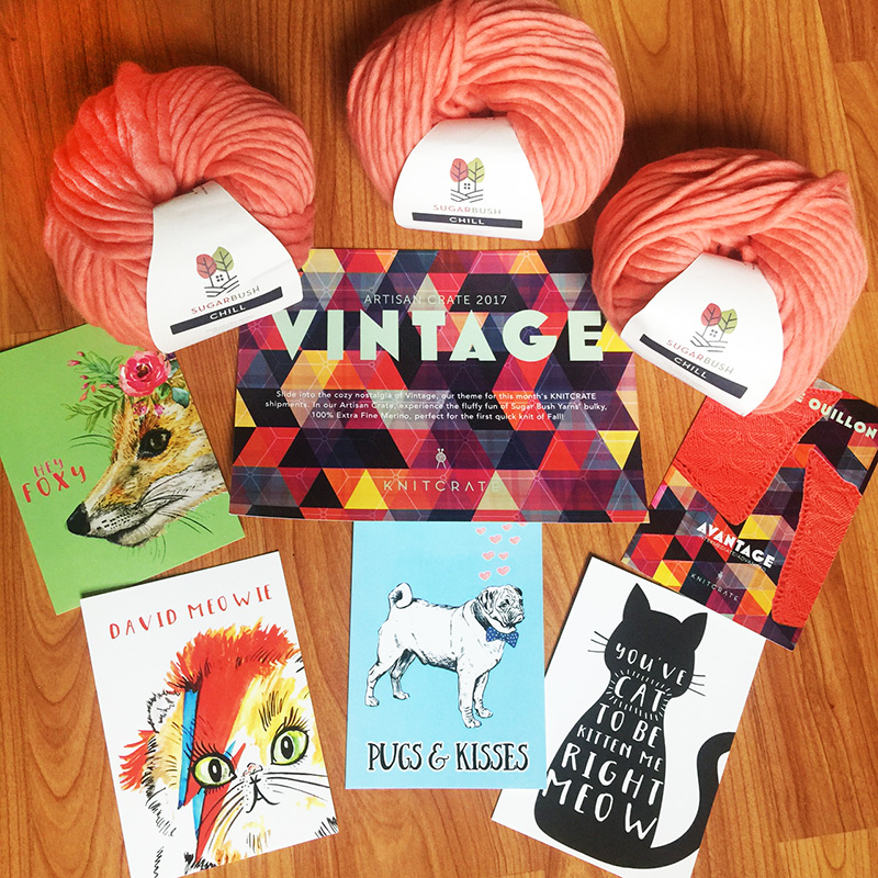 knitcrate artisan crate box contents august 2017